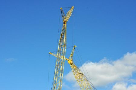 Large Construction Crane Stock Photo