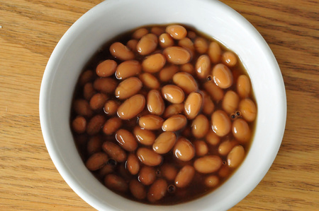 baked beans: Bowl of Baked Beans Stock Photo