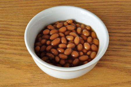 구운 콩 그릇