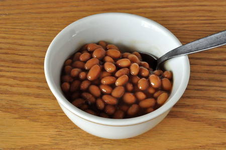 Bowl of Baked Beans Stok Fotoğraf