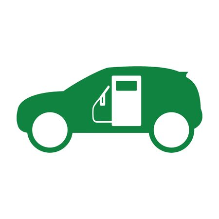 green fuel: car green fuel icon Illustration