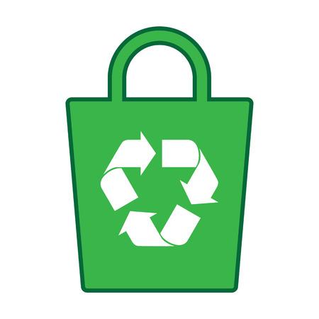 reusable: green recycle bag