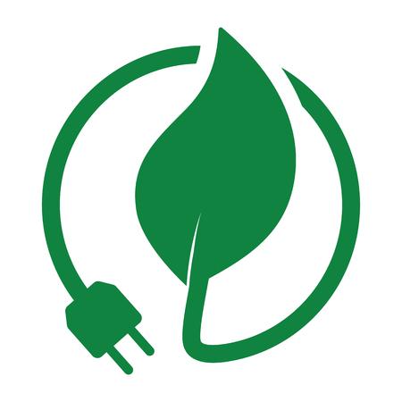 green leaf with plug 向量圖像