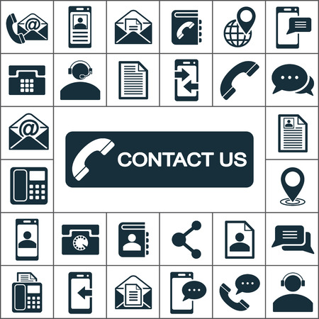 icons: contact us icons set