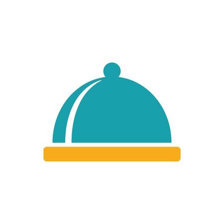 restaurant cloche icon on white background