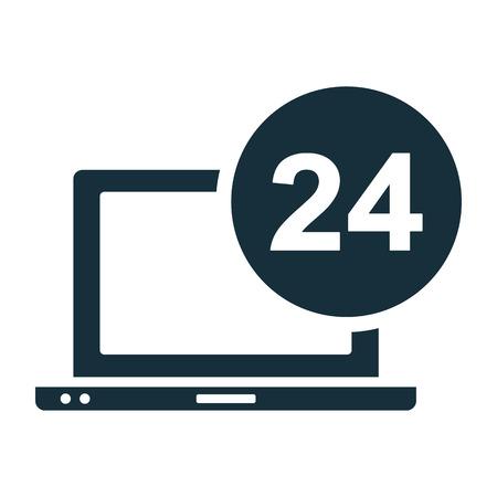 online service: all day online service Illustration