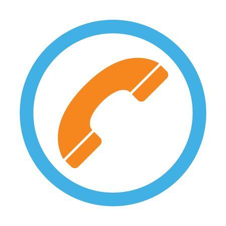 handset: handset icon on white background