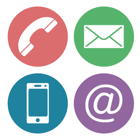 contact us: contact us communication icons Illustration