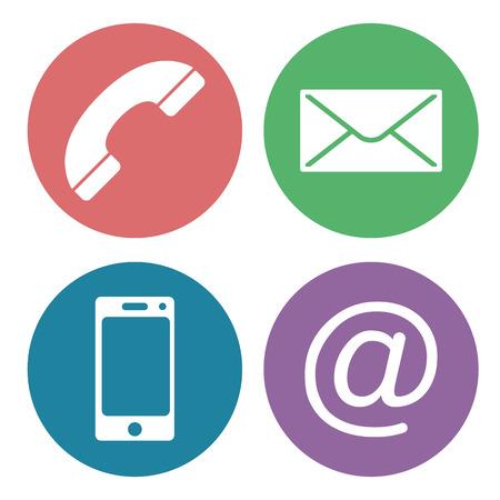 contact us communication icons Vektorové ilustrace