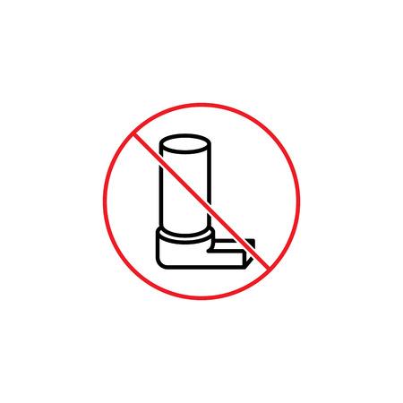 No inhaler sign.