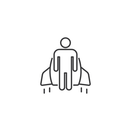 thin line start up jetpack icon on white background