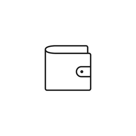 thin line wallet icon on white background Illusztráció