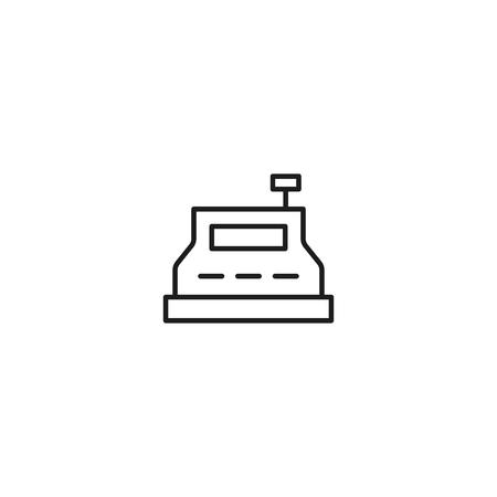 thin line cashbox icon on white background Illustration