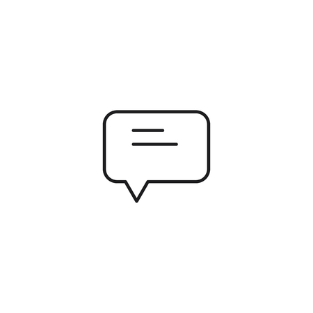 thin line comment icon on white background