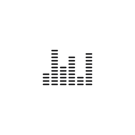 thin line equalizer bars icon on white background