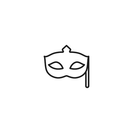 thin line masquerade mask icon on white background