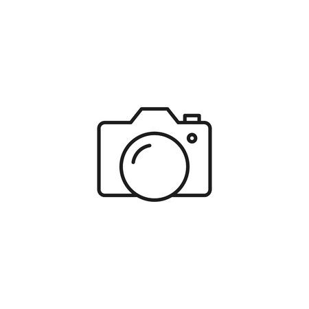 thin line camera icon on white background Illustration