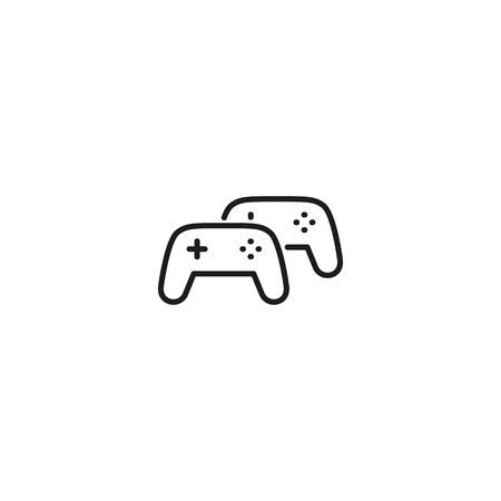 thin line multiplayer game icon on white background