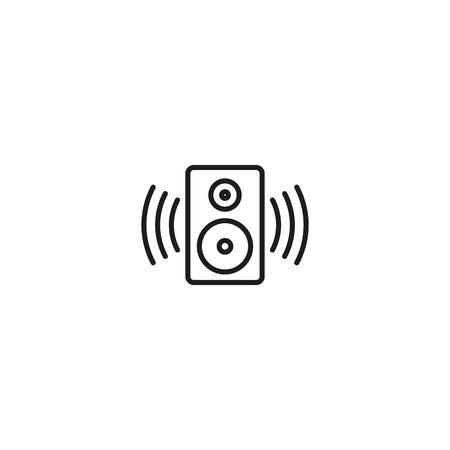 thin line sound speaker icon on white background