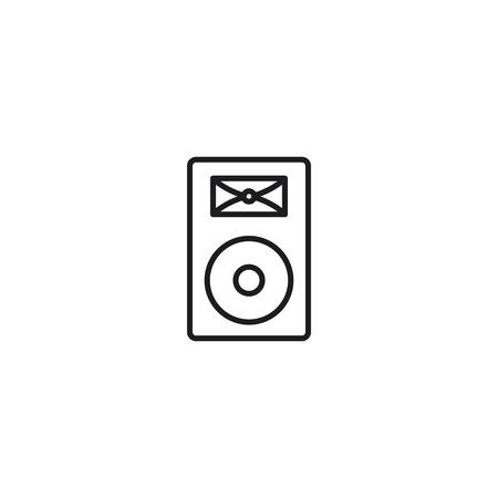 thin line concert loudspeaker icon on white background