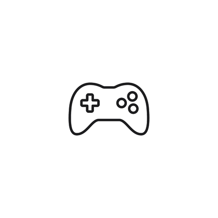 thin line joystick icon on white background Illustration