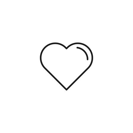add to favorite thin line icon on white background