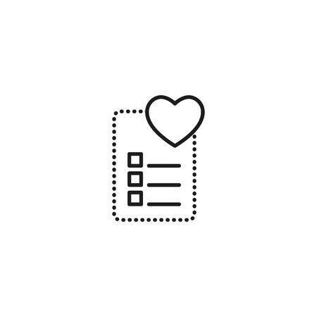wishlist thin line icon on white background Illustration