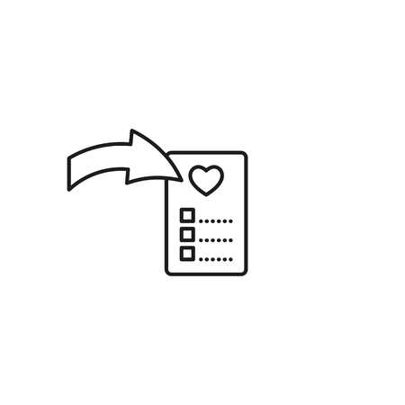 add to favorites thin line icon on white background Illustration