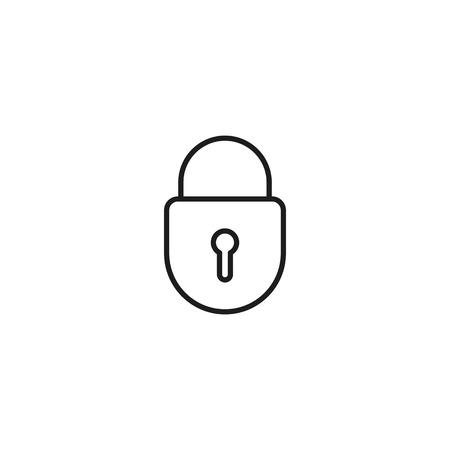 marketplace thin line icon on white background 向量圖像