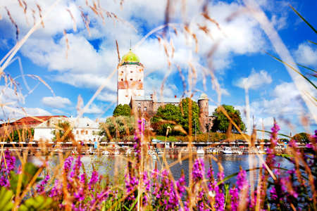 vyborg: Wide view of Vyborg castle Editorial