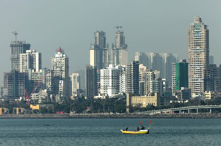 housing lot: New construction in Mumbai, India