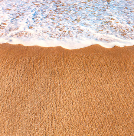 breaking wave: A piece of the beach and breaking wave, sand Stock Photo