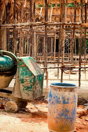 foundation problems: abandoned building in Thailand, Phuket