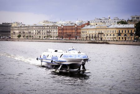 neva: Fast ferryboat on the Neva river, Saint Petersburg, Russia