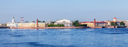 panoramic view of the spit of Vasilyevsky island, Saint-Petersburg, Russia