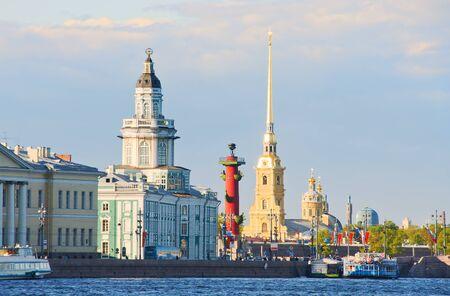 圣彼得堡,涅瓦河赛跑,天,俄罗斯的符号