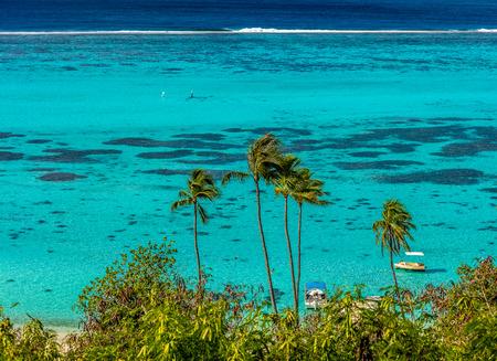 lagoon from Moorea island Imagens