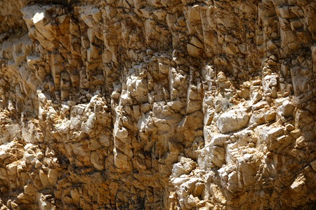 Bright and high contrast rocky stones at the marina in Croatia