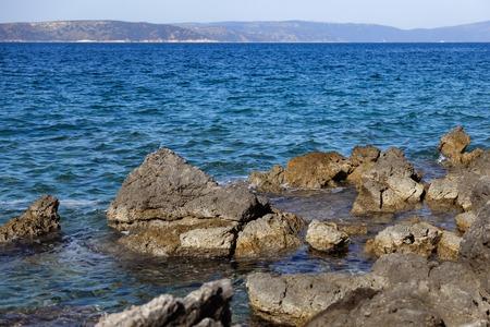 Rocky bay in the Adriatic sea in Croatia 版權商用圖片