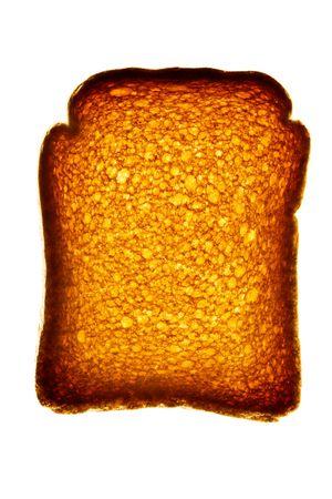 biscotte: Golden biscottes isol� sur blanc
