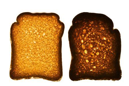 biscotte: Golden Rusk isol� sur blanc Banque d'images