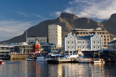 CAPE TOWN, VIEW OF WATERFRONT Stock Photo