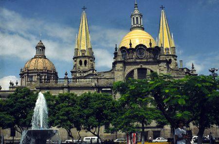 Mexico, GUADALAJARA la cathédrale  Banque d'images