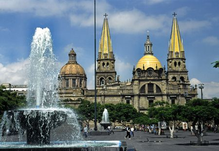 MEXICO, GUADALAJARA THE CATHEDRAL
