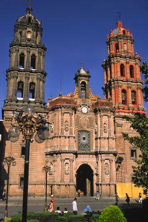 LE MEXIQUE - SAN LUIS POTOSI, LA CATHÉDRALE Banque d'images
