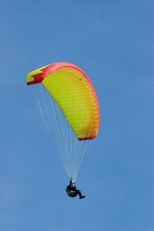 paraglinder in the sky photo
