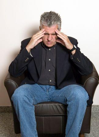 man worried Stock Photo