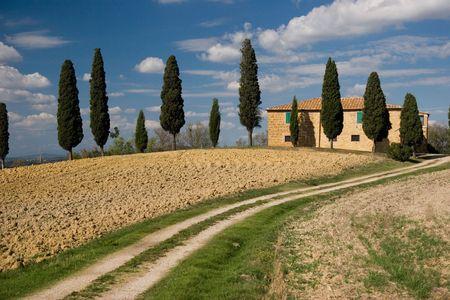 tuscany landscape photo