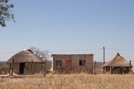traditional huts in a south african village