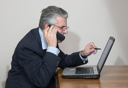 mobile and computer Stock Photo - 1895046